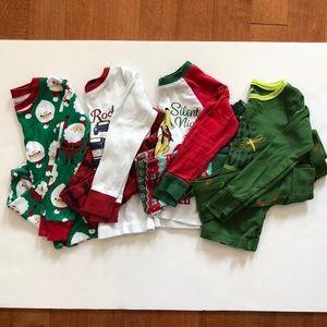 Lot of 4 sets of long sleeve pajamas (4T)